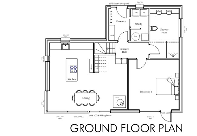 House plans ground floor house our self build story for 2 floor building plan
